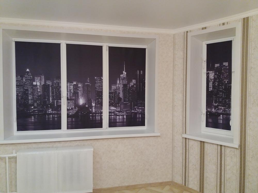Акция на рулонные шторы с фотопечатью